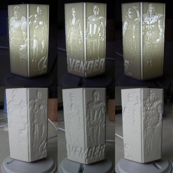 復仇者聯盟3D列印燈